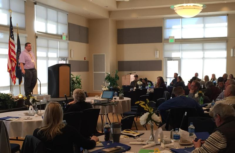 Pharmacist Michael Wright talked about responsible prescribing practices at the HOPE Summit in Carbon County.
