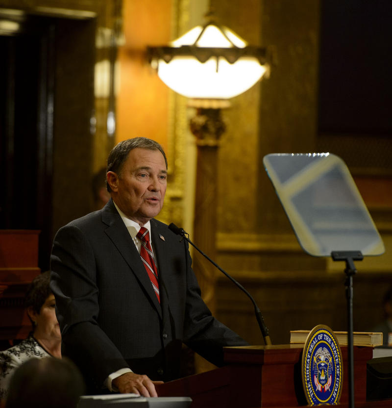 Utah Governor Gary Herbert gives his 2018 State of the State Address.