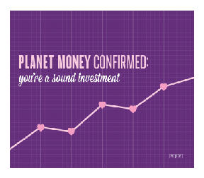 Planet Money confirmed: you're a sound investment