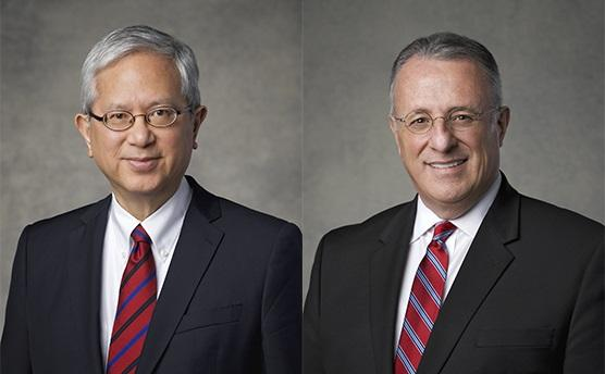 Elder Gerrit W. Gong (left) and Elder Ulisses Soares (right), the two newest Mormon apostles.