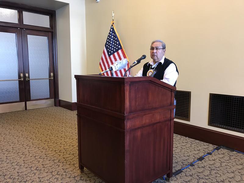 Virgil Jonson, chair of the Utah Tribal Leaders Association,