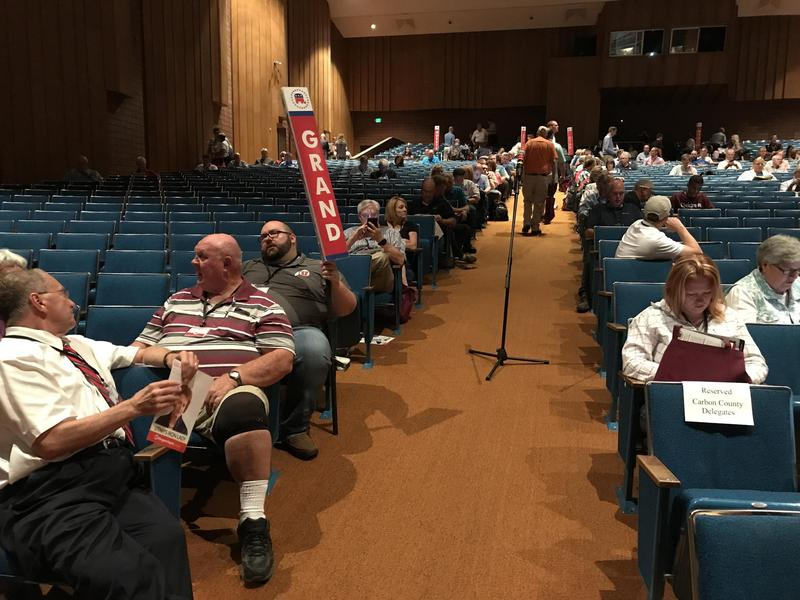 Republican delegates at the June 2017 special caucus convention for Utah's 3rd Congressional District.