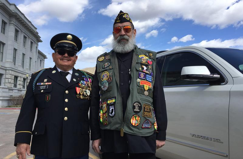 Lee Sanchez and Tom Montez attended the National Vietnam War Veterans Day event at the Utah State Capitol.
