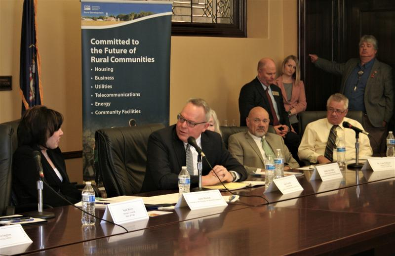 Jim Carroll, acting director of the Office of National Drug Control Policy spoke with USDA's Anne Hazlett at the Utah capitol on Wednesday.