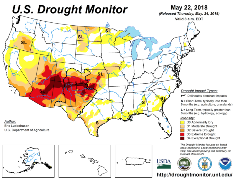 The U.S. Drought Monitor offers a weekly snapshot of conditions nationwide.