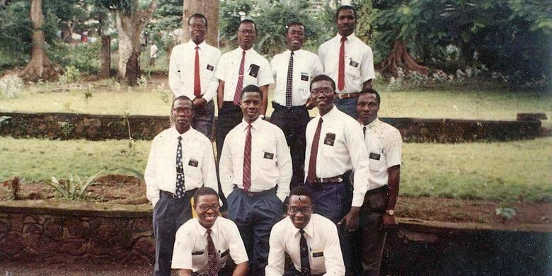 The first Liberian missionaries for the LDS Church. Before 1978, as a general rule, black Mormons were not called to serve missions.