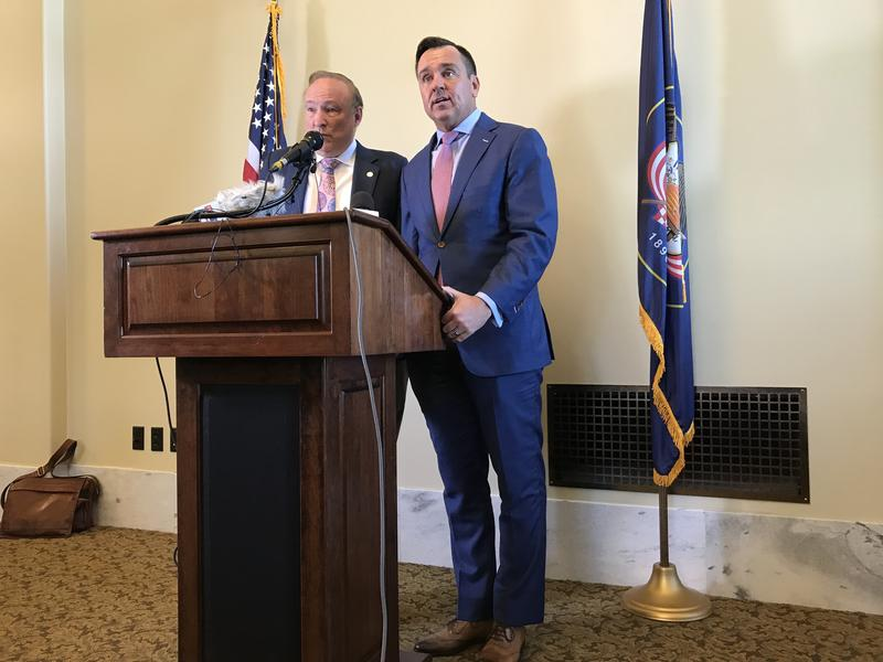 Utah House Speaker Greg Hughes and Sen. Jim Dabakis unveil a compromise for the future inland port in Salt Lake City.