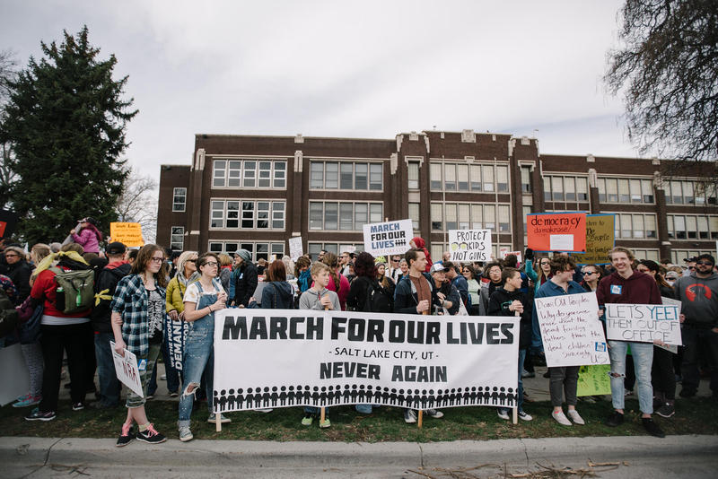 In March, thousands participated in Utah's March For Our Lives demonstration in Salt Lake City.
