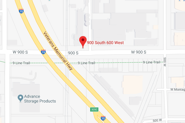 map indicating the intersection of the accident.