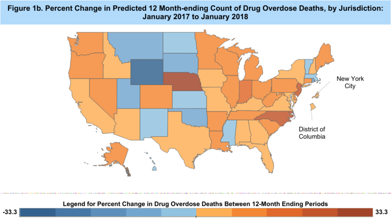 The CDC predicts death rates based on previous year's as mortality data comes in from death investigations nationwide.