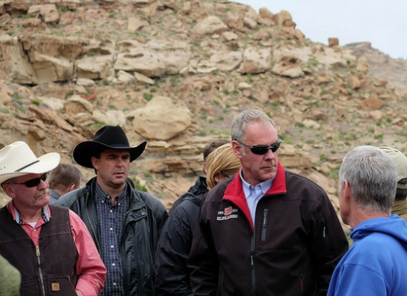 U.S. Interior Department Interior Secretary Ryan Zinke meets with Utah officials in May, 2017, during his review of 27 national monuments. Here he meets with Garfield County commissioners during a stop at the Grand Staircase Escalante National Monumen, w