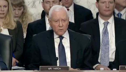 Hatch speaks at Kavanaugh hearing.