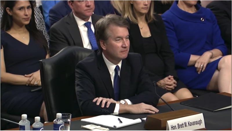 Brett Kavanaugh at hearings.
