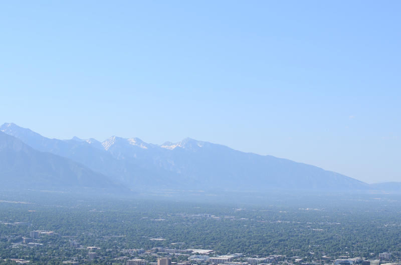 Photo of smog over SLC.