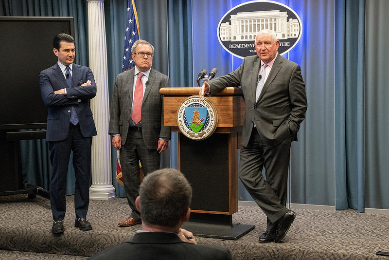 Andrew Wheeler (center) is likely President Trump's nominee for EPA Administrator.