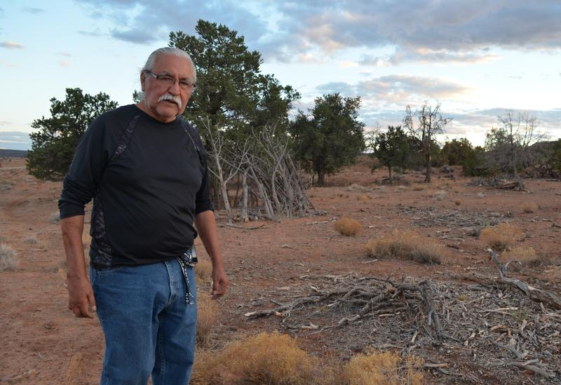 Willie Grayeyes on Paiute Mesa near the Navajo Mountain community.