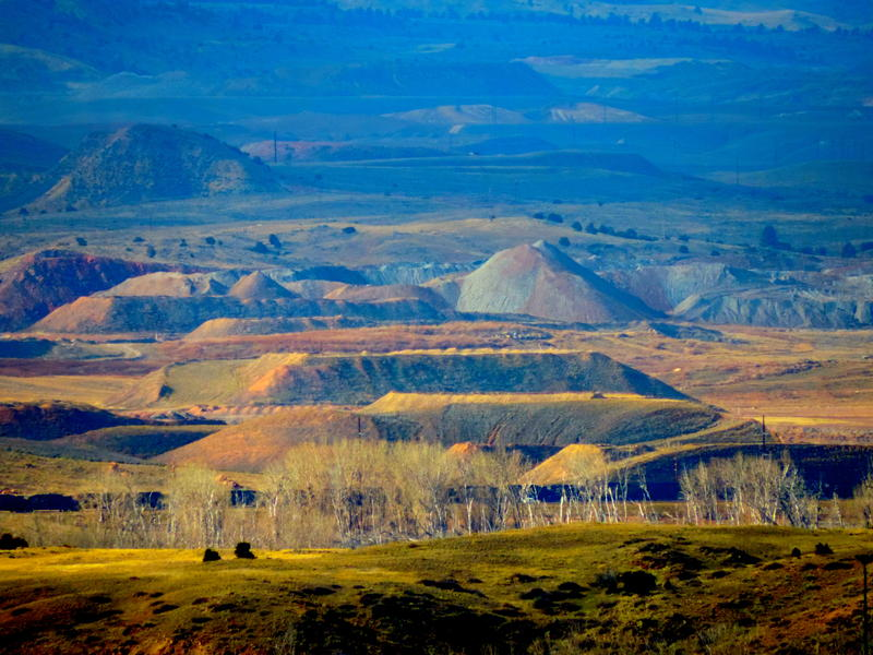Landscape photo of mining