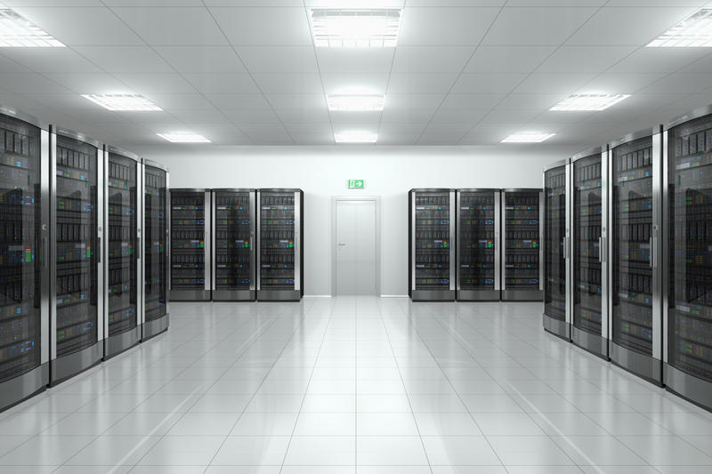 Photo of data center.
