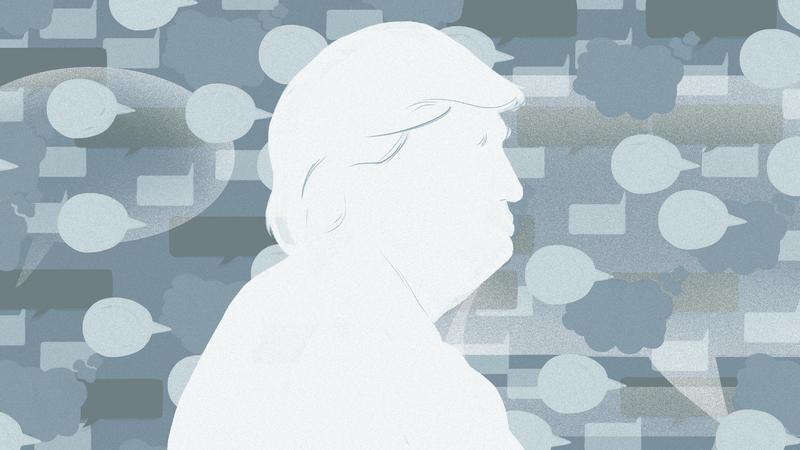 Pres. Donald Trump Illustration from NPR.