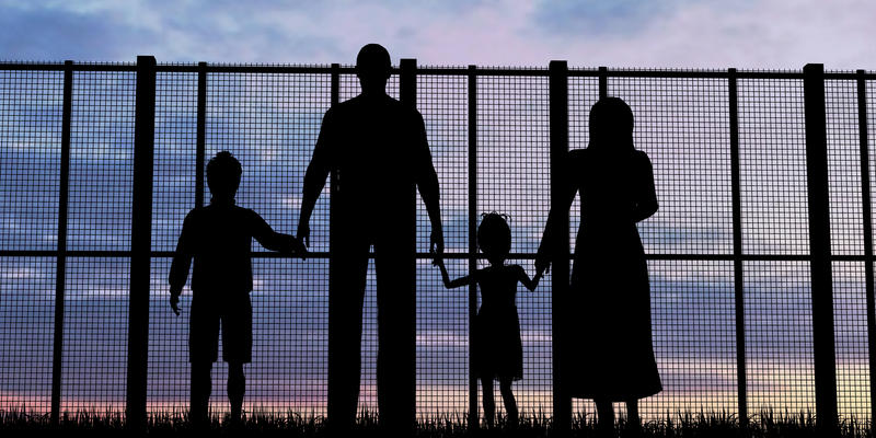 family at border