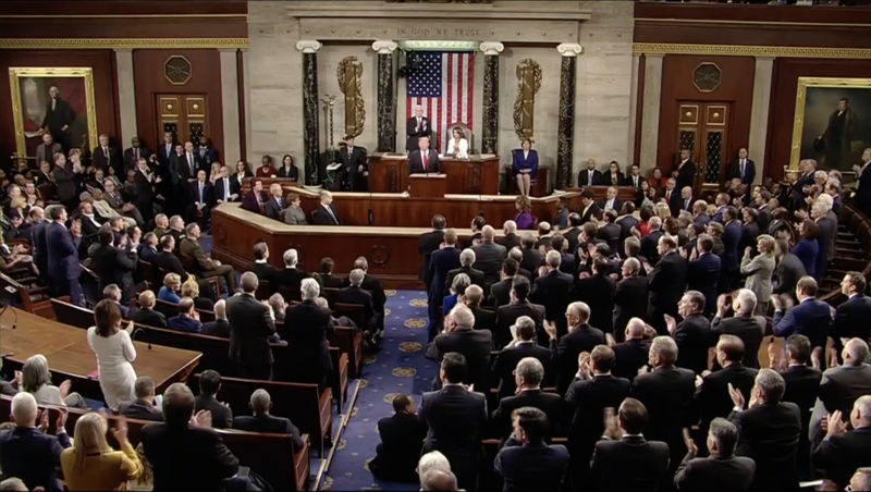 Photo of SOTU address.
