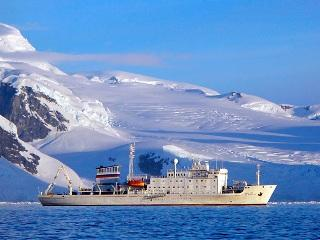 The Russian research vessel that carried David Schultz on his expeditions to the Arctic and the Antarctic.