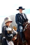 "<a href=""http://www.septemberdawn.net/\"" target=\""_blank\"">September Dawn</a>. John D. Lee (Jon Gries) with pioneer woman ? Copyright 2007 September Dawn LLC."