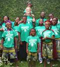 Ryan Hansen and the New Hope Orphanage children.