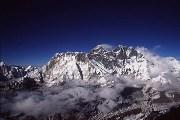 Mount Everest from the summit of Ama Dablam. Photo by Michael Kodas.