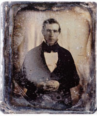 """From S Michael Tracy's original scan of supposed Joseph Smith daguerreotype. <br> <a href=\""""http://www.kuer.org/images/joseph_smith_lg.jpg\"""" target=\""""_blank\"""">Click here to view the larger daguerreotype image.</a>"""