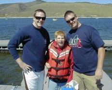 "Kyle Owen with Randy ""Boat Guy\"" Strader and his brother Tony."