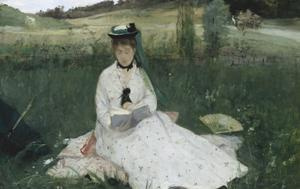 <I>Reading (La lecture)</I>  Berthe Morisot 1873