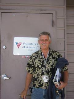 Ed Snoddy, a homeless outreach worker with Volunteers of America.