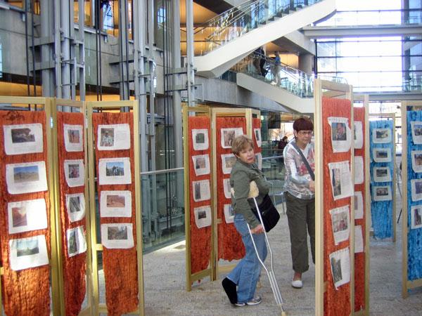 The Wilderness Quilt project is on display through December 3 at the downtown Salt Lake City Public Library