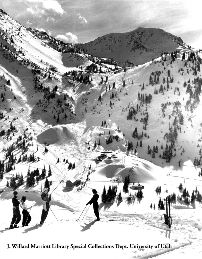 Alta Ski Resort. J. Willard Marriott Library Special Collections Department, University of Utah.