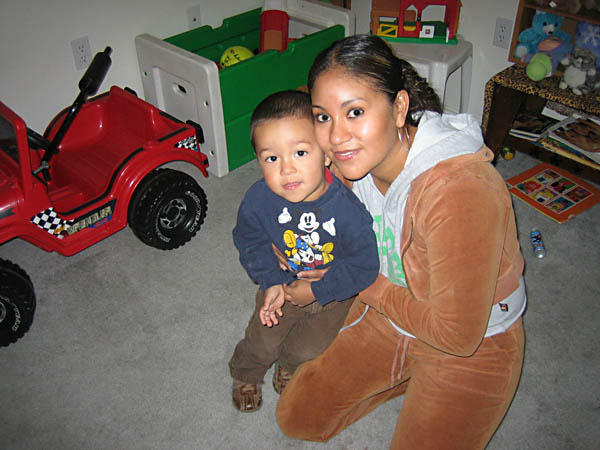 Lisette Tadeo and son