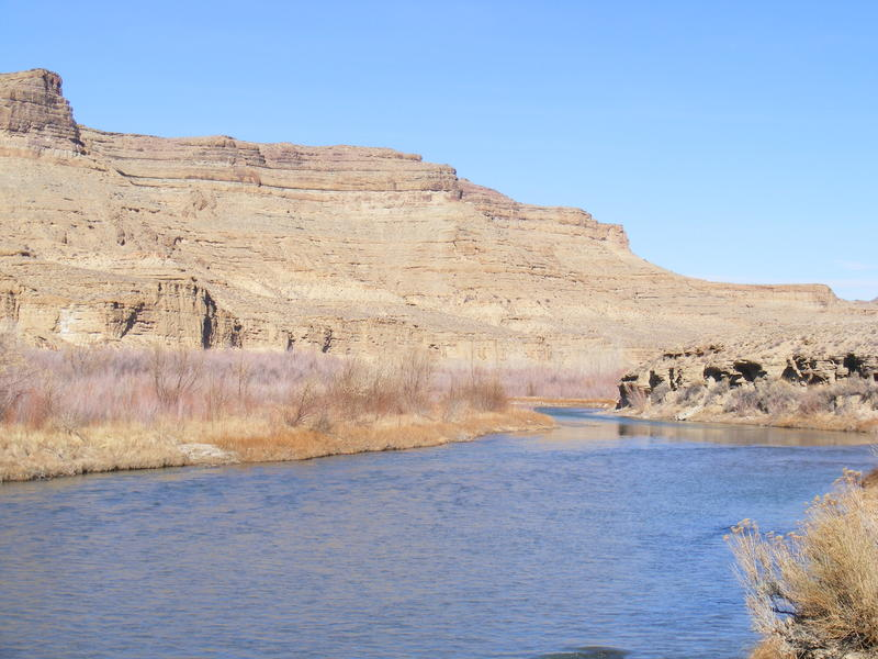 The White River flows through one of the parcels proposed for the BLM drilling lease auction in December.