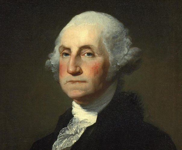George Washington took the oath of office in 1789 at the age of 57.