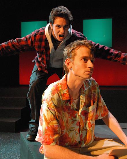 "Jesse Pepe, Michael Gardner in Salt Lake Acting Company's \""dark play or Stories for Boys\"""
