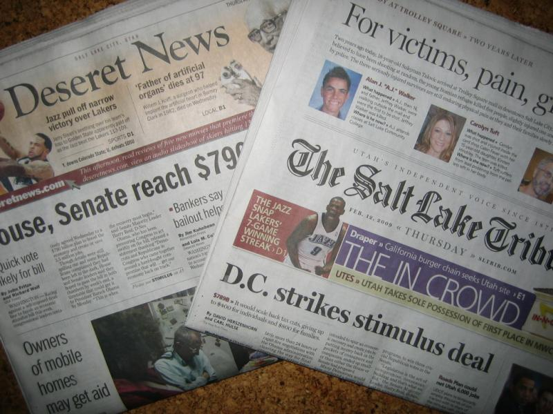The Deseret News and the Salt Lake Tribune