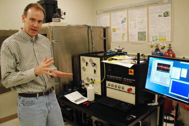 Brian McPherson, Associate Professor of Civil and Environmental Engineering at the University of Utah, is working on a way to inject carbon dioxide deep into Earth.