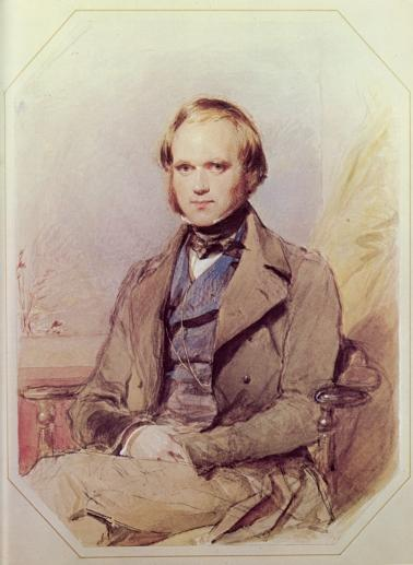 Charles Darwin in 1840. Watercolor by George Richmond.