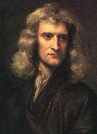 Isaac Newton, 1689. Portrait by Godfry Kneller.
