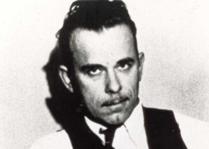 "John Dillinger. Photo Courtesy of the <a href=""http://www.fbi.gov/libref/historic/history/anniversarymaterials.htm\"" target=\""_blank\"">Federal Bureau of Investigation</a>."