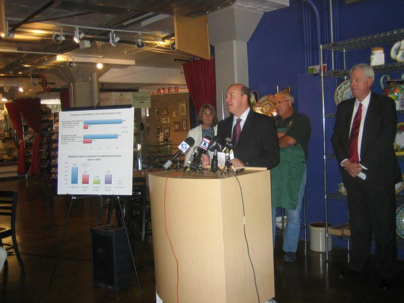 Press conference on Utah small businesses and health care reform