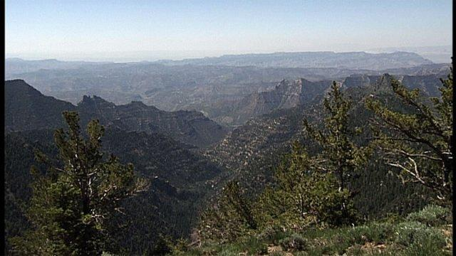 Looking southwest into Range Creek Canyon from the Tavaputs Plateau.