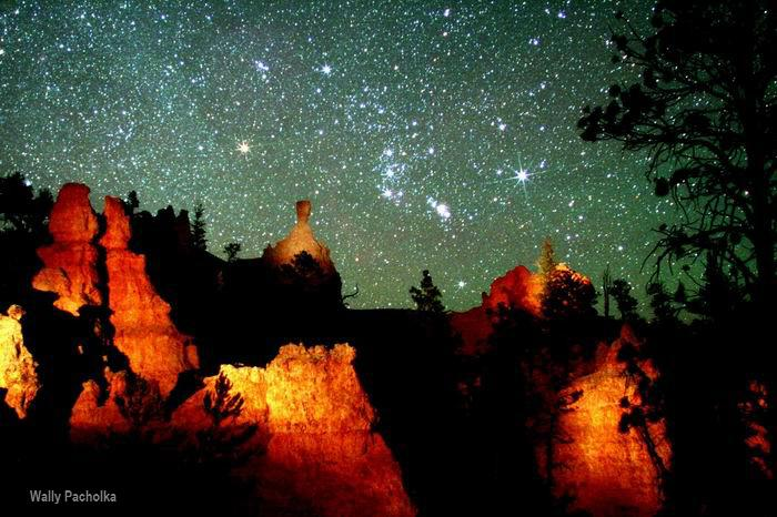 Bryce Canyon at night.