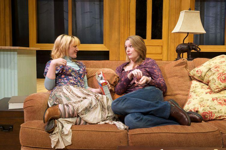 "From Pioneer Theatre Company's ""Touch(ed)\"" L-R: Kelly Hutchinson, Jennifer Joan Thompson. Photo by Alexander Weisman."
