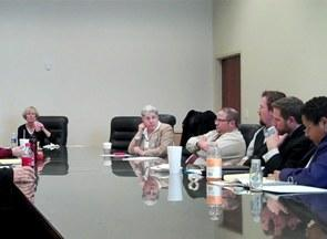 <B>Advocates and citizens affected by cuts in health care and other social services meet at the Utah State Capitol to coordinate their lobbying strategy.</B>