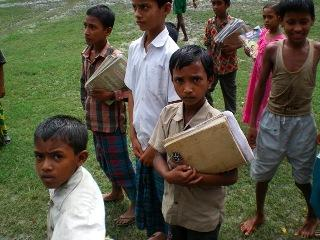 Boys in Bangladesh affected by climate change from the documentary film <I>Climate Refugees.</I>